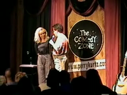 Comedian Perry Kurtz Uses a Volunteer