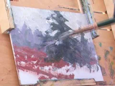 Snowfield Sentinel - En Plein Air Oil Demonstration