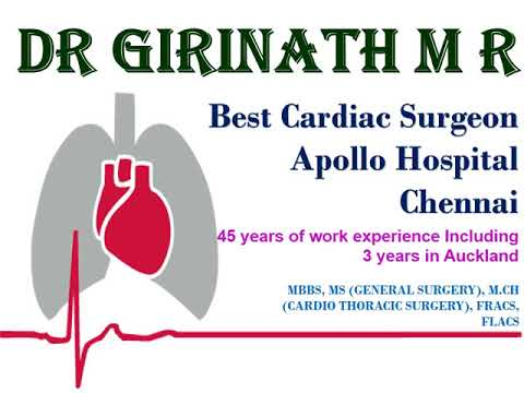 Dr  Girinath M  R Is A Famous  Cardio Thoracic Surgeon in Chennai India