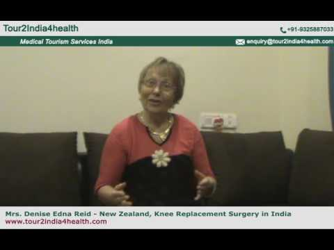 Mrs. Denis Edna New Zealand Share Her Experience of Knee Replacement India