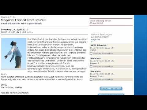 NDR-Kultur: Freiheit statt Freizeit - Abschied von der Arbeitsgesellschaft (Teil1/6)