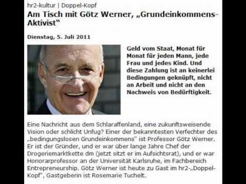 """Am Tisch mit Götz Werner: """"Grundeinkommens-Aktivist"""""""