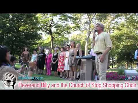 Reverend Billy and the Church of Stop Shopping perform at the Occupy National Gathering, Day 3