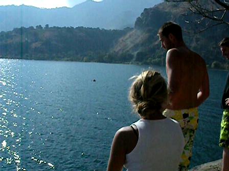 Rock Jump into Lago Atitlan