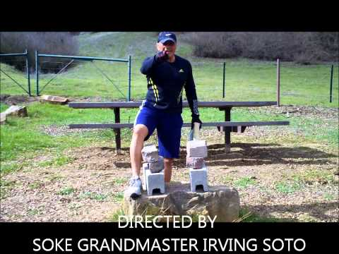 SOKE GRANDMASTER IRVING SOTO BREAKING 12 INCHES  OF STONE PART 2 IRON PALM