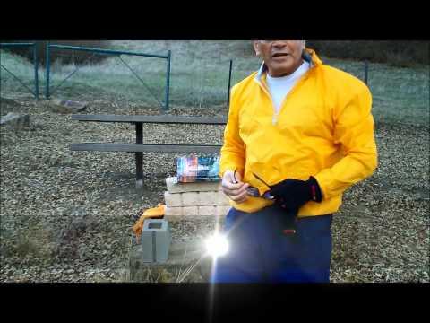Soke Prof Grandmaster Irving Soto Demo iron palm concrete stone break on 36 inhes