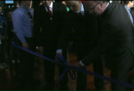 Prefeito de Santos e Presidente da CODESP inauguram a Exposição-Oficina