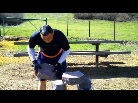 SOKE GRANDMASTER IRVING SOTO  IRON PALM PART- 3 / 24 INCHES STONE BREAK POWERFUL BREAK 02/24/2012