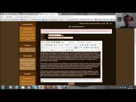 ¡Como configurar web de DXN!