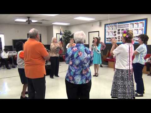 Chicken Dance at Octoberfest at the Gilmore Senior Center in Killeen, Texas