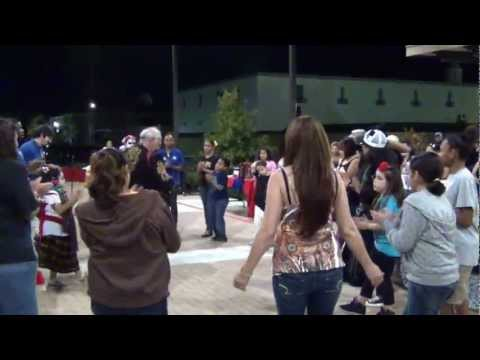 La Raspa being danced at a LULAC Dia de Muerto event at Central Texas College on Nov 2, 2012