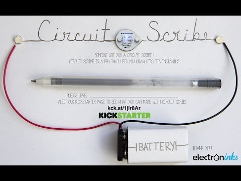 New Invention - Circuit Scribe - Draw Circuits Instantly with conductive silver ink