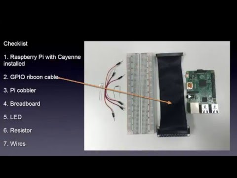 Add a LED to Raspberry Pi Breadboard with Cayenne