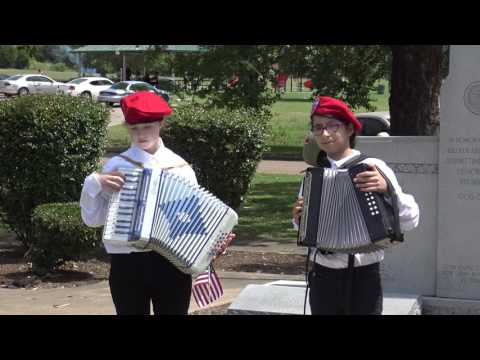 America the Beautiful played at a Memorial Day event