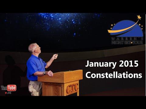 Warren's Night Sky Tour - January Constellations