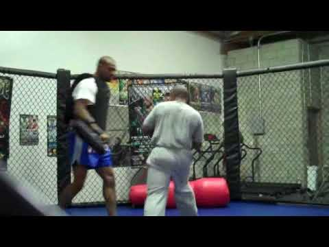 Tyson trains with Umar Love for his 11/08/09 fight. Oct. 28,