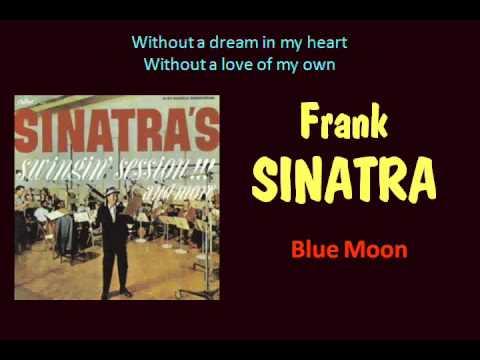 Blue Moon (Frank Sinatra - with Lyrics)