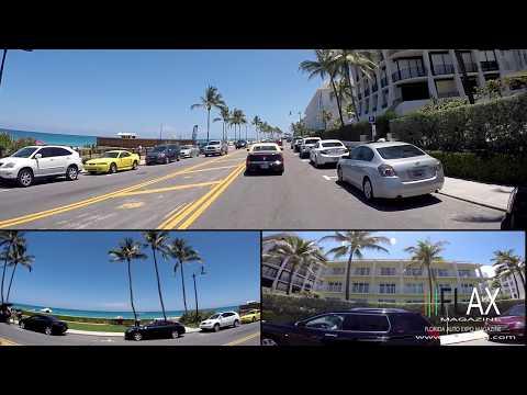 A1A Cruising with FLAX Magazine  Full HD Palm Beach Mar a Lago Lake Worth Florida