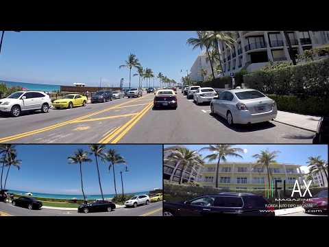 A1A Cruising with FLAX Magazine  Full HD Palm Beach Mar a Lago Lake Worth Florida