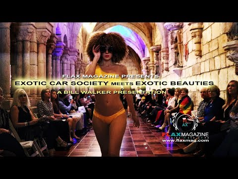 EXOTIC CAR SOCIETY Meet EXOTIC BEAUTIES @ International Sunny Isles Beach Fashion Show