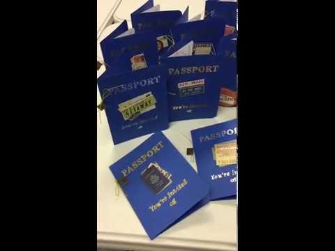 Handmade Passport Party Invitations