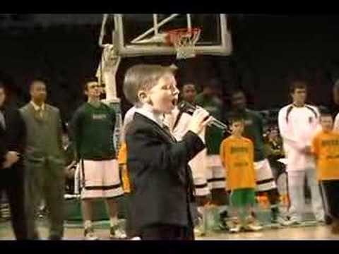 # 7 year old sings National Anthem