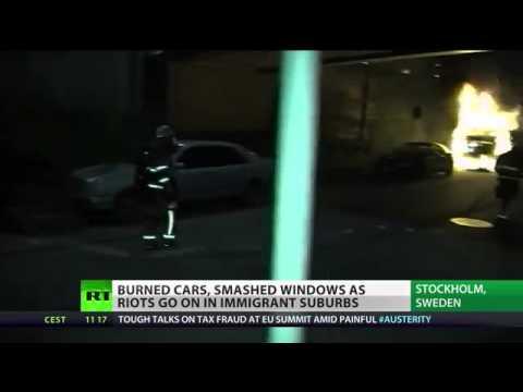 Sweden burning Stockholm riots & violence enter 4th day