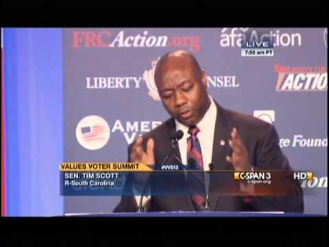 Senator Tim Scott Talks to the Value Voters Summit about his Conservative Values and Principles