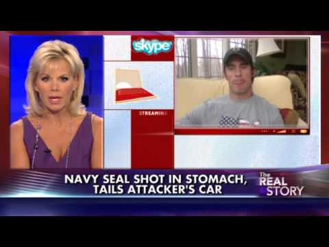 Chris Mark Heben Former Navy SEAL shot in stomach, tails attacker's car - Lone Wolf