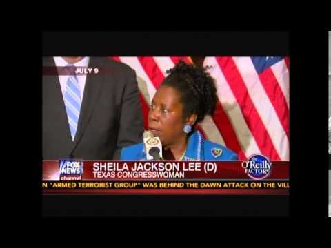 Bill O'Reilly Calls Out Moron Sheila Jackson Lee & Spells it Out For her M-O-R-O-N