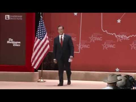 Senator Rick Santorum, PA CPAC 2015