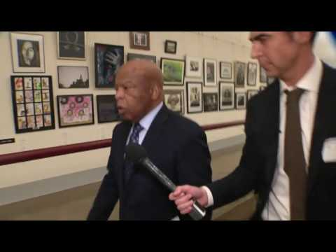 Watters tracks down Rep. John Lewis.
