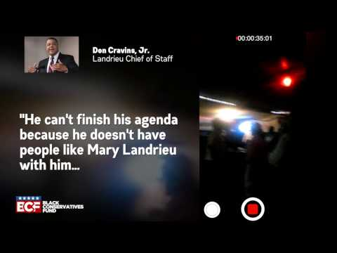 Mary Landrieu's on Chief of Staff telling a crowd she's in lockstep with Obama