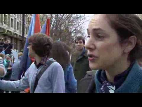 Kirsten Morell at London Wave March