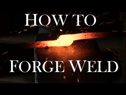 Blacksmithing - How To Forge Weld  (Plus: How to forge chain)
