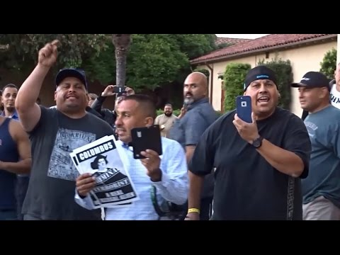 TRUMP SUPPORTER ATTACKED AFTER ILLEGAL ALIEN KNOW YOUR RIGHTS TOWNHALL GETS SHUT DOWN.