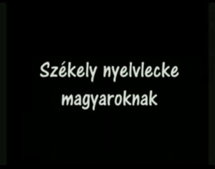 Székely nyelvlecke magyaroknak