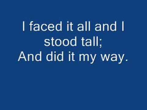 Frank Sinatra, My Way, With Lyrics