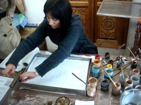 Painting on water (a.k.a. Ebru)
