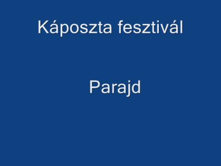 Káposzta fesztivál  Parajd