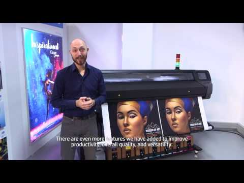 HP Latex 500 Printer series Product demo video with subtitles