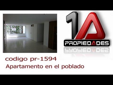 se vende Apartamento en medellin, poblado, (video 3),propiedades1a codigo: pc-1594