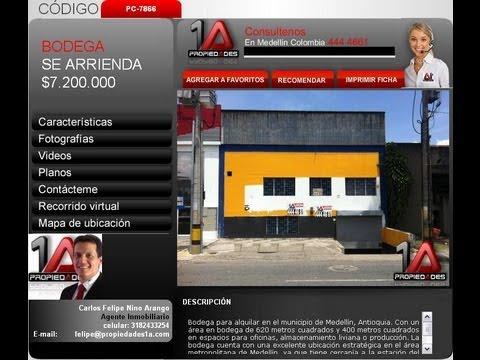 Bodega en Medellin-Antioquia se arrienda Propiedades 1A Codigo:PC-7866
