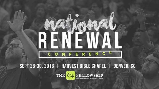 National Renewal Conference | September 28-30, 2016