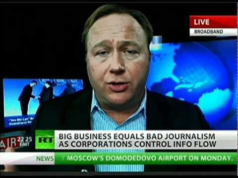 GOV. RUN MEDIA THREATENS INTERNET AND OTHER SOUCES WITH CENSORSHIP:Alex Jones: Corporations, US government run news media
