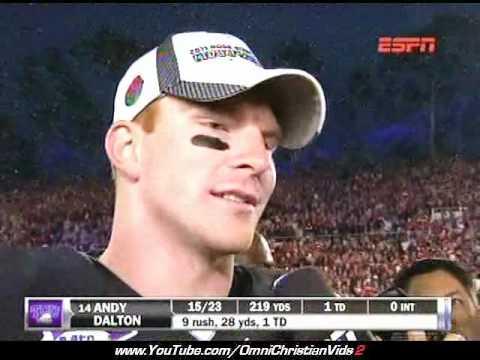 Rose Bowl Quarterback Quotes Scripture After Win