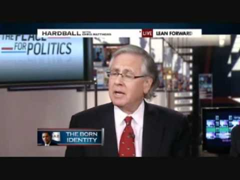 VIDEO - Chris Matthews: Apparently Obama Does Not Have Long-Form Birth Certificate - 1/31/11