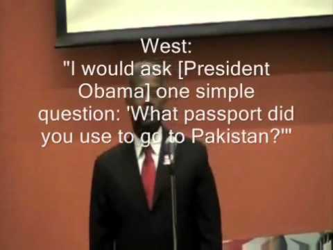 """Allen West: """"I would ask President Obama one simple question: """"What passport did you use to go to Pakistan?"""""""