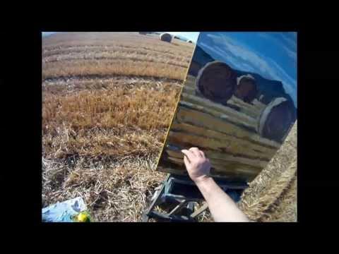 """Rod Coyne painting demonstration """"September Harvest"""""""