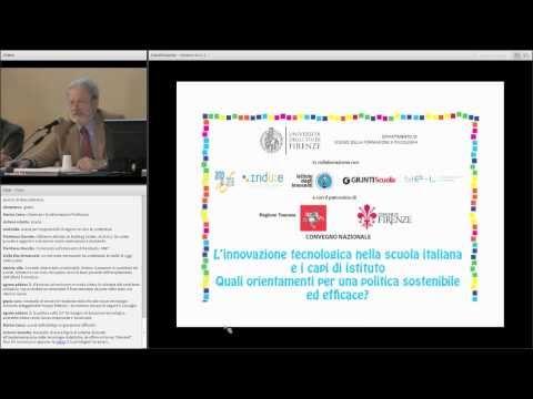 01) Apertura dei lavori-L'innovazione tecnologica nella scuola italiana e i capi d'istituto